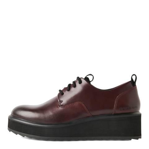 G-Star Burgundy Strett Flatform Derby Shoes