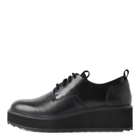 G-Star Black Strett Flatform Derby Shoes