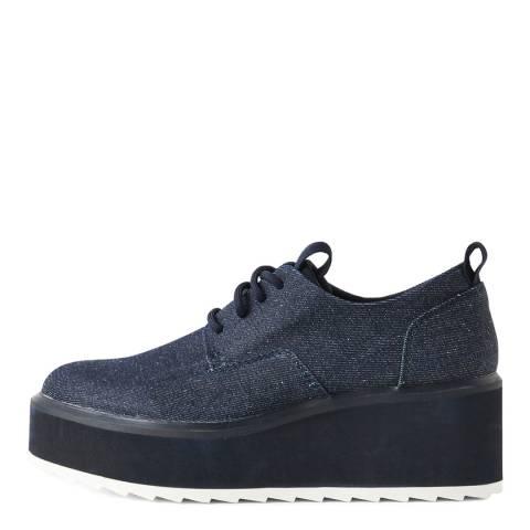 G-Star Dark Blue Strett Flatform Derby Denim Shoes