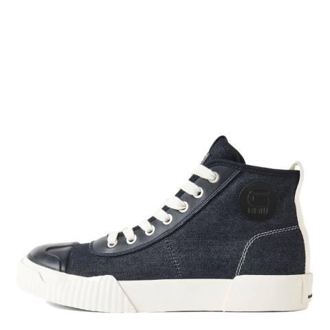 G-Star Dark Blue Rackam Parta Denim Mid Sneakers