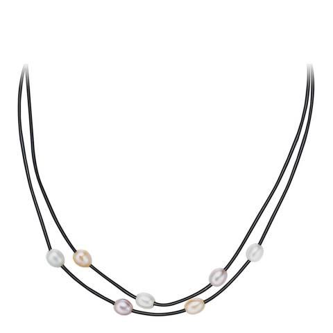 Nova Pearls Copenhagen Black/Multi Pearl Necklace