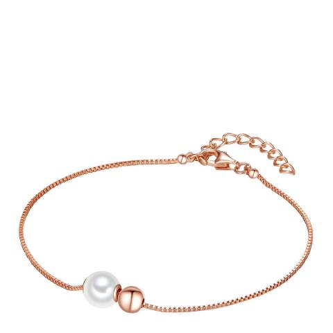 The Pacific Pearl Company White/Rose Gold Pearl Bracelet