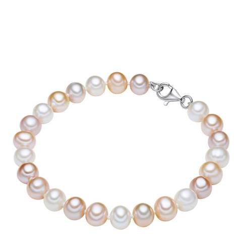 The Pacific Pearl Company White/Light Orange/Lilac Pearl Bracelet