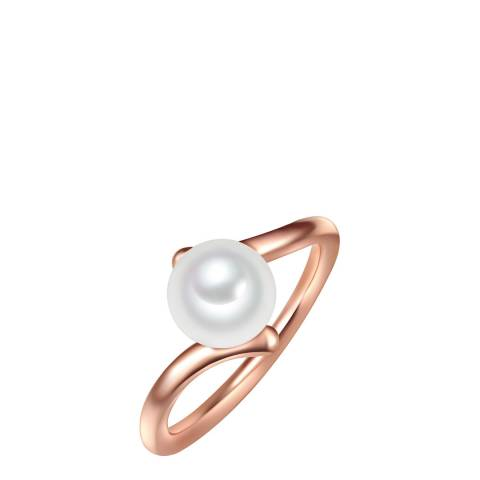 Yamato Pearls White/Rose Gold Pearl Ring