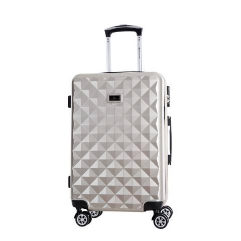 Platinium Beige Greenlane 8 Wheel Suitcase 62cm