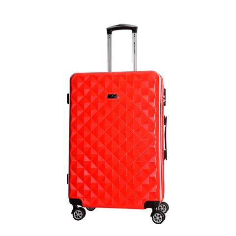 Platinium Red Greenlane 8 Wheel Suitcase 62cm