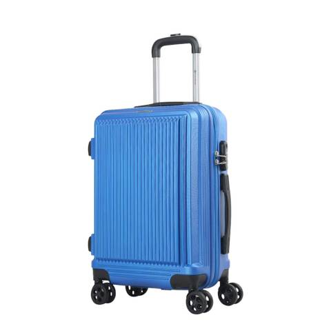 Platinium Blue Sholley 8 Wheel Suitcase 66cm