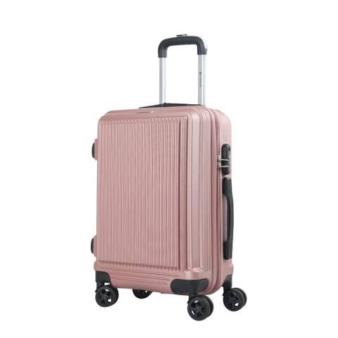 Platinium Pink Sholley 8 Wheel Suitcase 66cm
