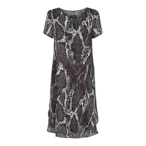 James Lakeland Charcoal Print Wave Hem Dress