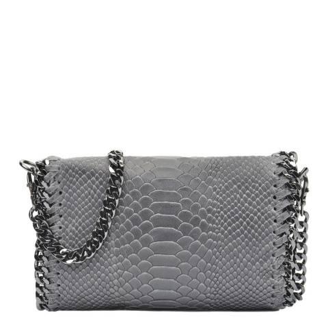 Luisa Vannini Grey Leather Shoulder Bag
