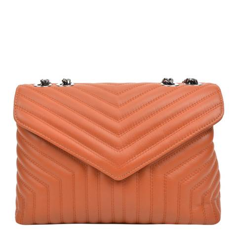 Luisa Vannini Brown Leather Shoulder Bag