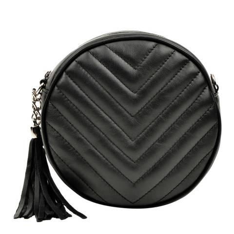 Luisa Vannini Black Leather Crossbody Bag