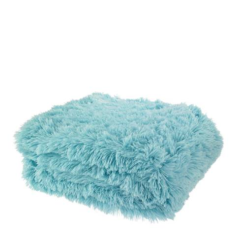 Catherine Lansfield Cuddly Throw, Duck Egg