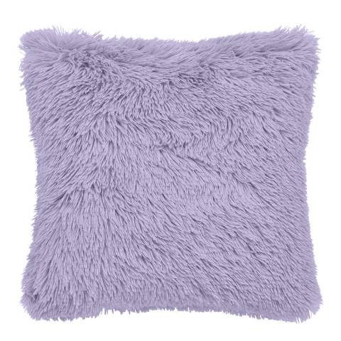 Catherine Lansfield Cuddly Cushion, Lilac