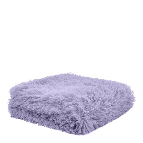 Catherine Lansfield Cuddly Throw, Lilac