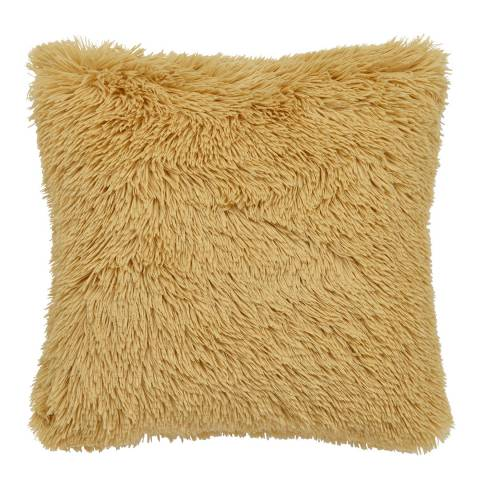 Catherine Lansfield Cuddly Cushion, Ochre