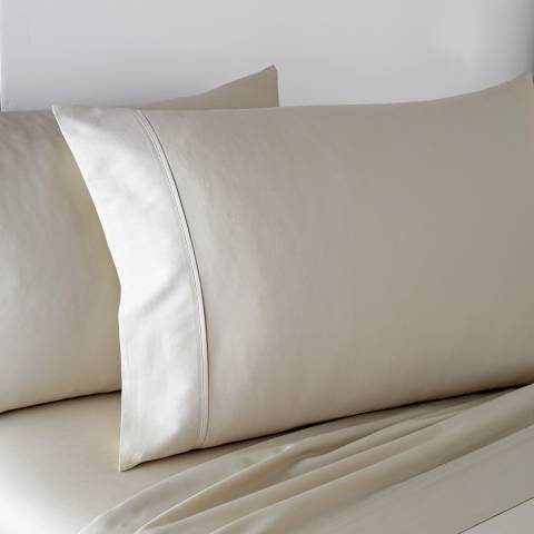 DKNY 300TC King Fitted Sheet, Linen