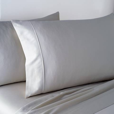 DKNY 300TC Double Fitted Sheet, Platinum