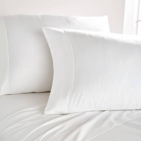 DKNY 300TC King Flat Sheet, White
