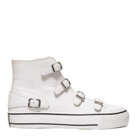 ASH White Virgin Buckle Trainers