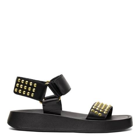 ASH Black Studded Volcano Sandal