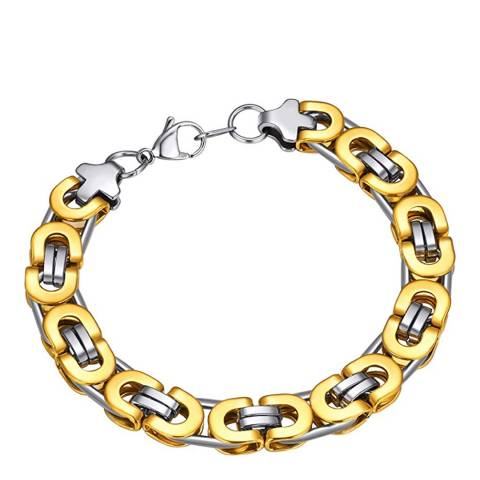 Stephen Oliver 18K Gold Plated & Silver Plated Two Tone Bracelet