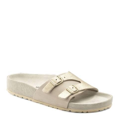 Birkenstock Taupe Suede Vaduz Exquisite Sandals