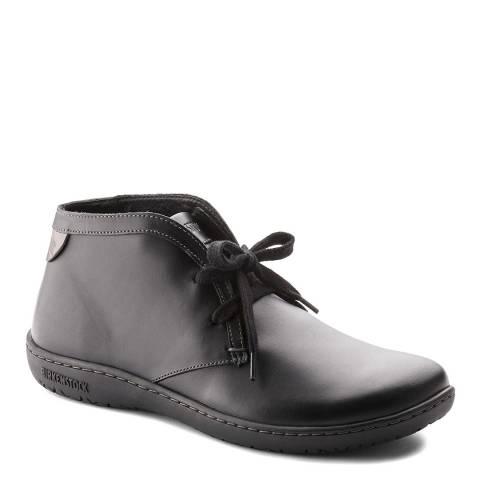 Birkenstock Black Leather Scarba Boots