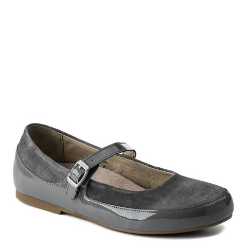 Birkenstock Grey Leather Lismore Shoes
