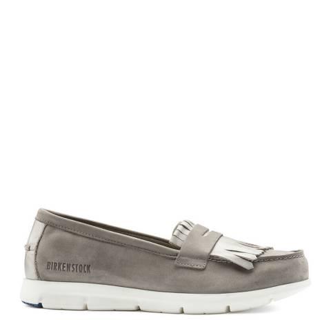 Birkenstock Taupe Leather Saitama Loafers