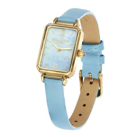 Lola Rose Blue Aquamarine & Pale Aqua Soft Leather Strap Watch
