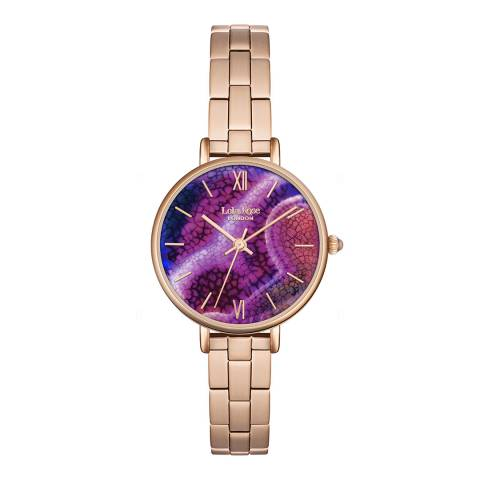 Lola Rose Aqua Purple Agate Stone Dial Bracelet Watch
