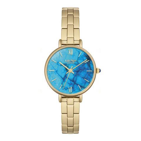 Lola Rose Blue Magnesite Stone Dial Bracelet Watch