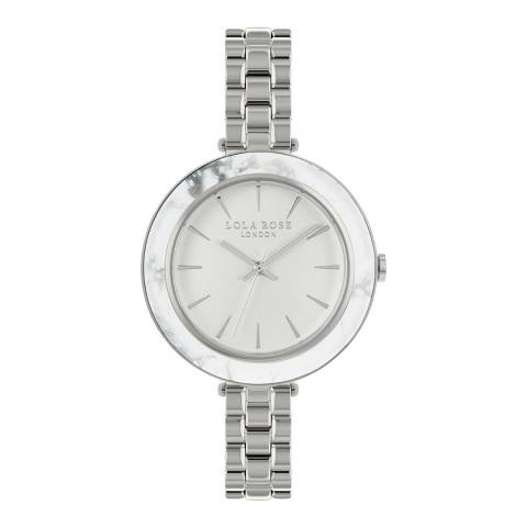 Lola Rose White Howlite Stone Inlay Bezel Bracelet Watch