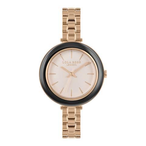 Lola Rose Blush Dial & Hematite Stone Inlay Bezel Bracelet Watch