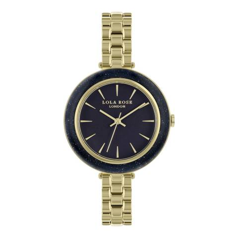 Lola Rose Blue Sandstone Stone Rose Gold Bracelet Watch