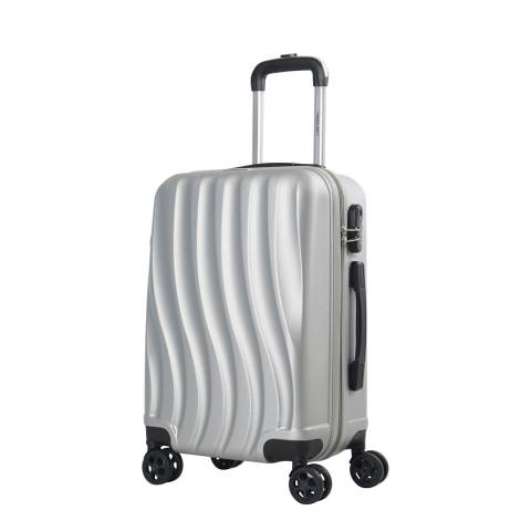 Travel One Silver 8 Wheel Dallington Suitcase 66cm
