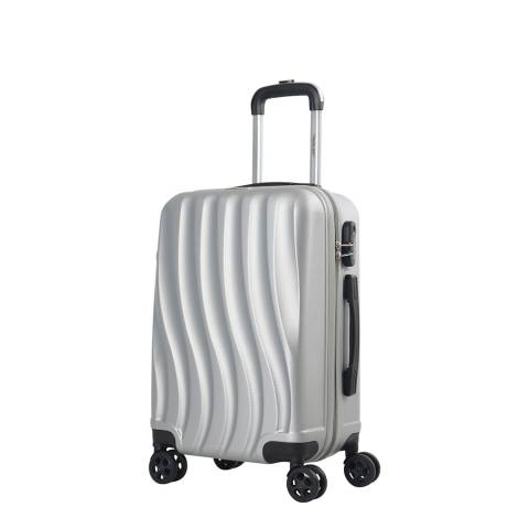 Travel One Silver 8 Wheel Dallington Suitcase 56cm