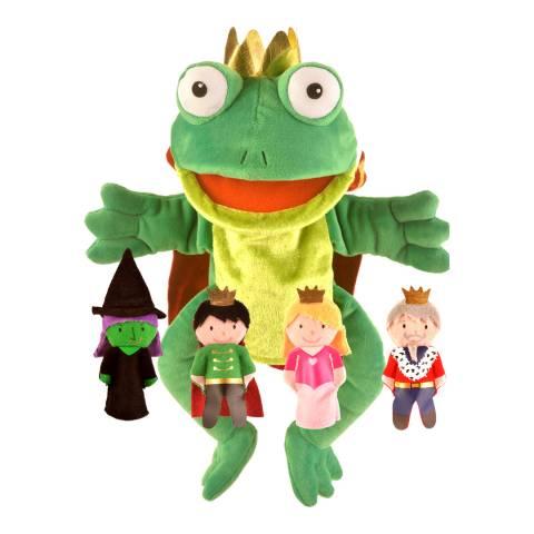 Fiesta Crafts Frog Prince Hand & Finger Puppet Set