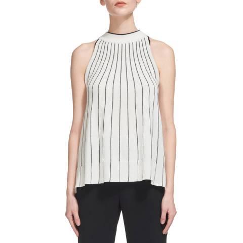 WHISTLES White Stripe Trapeze Knit Vest