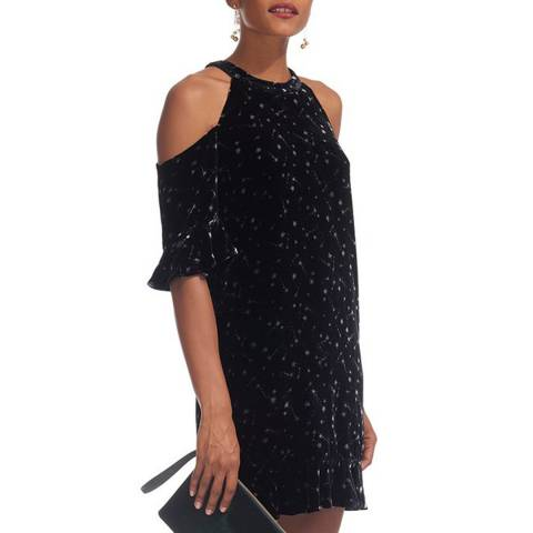 WHISTLES Black Constellation Dress