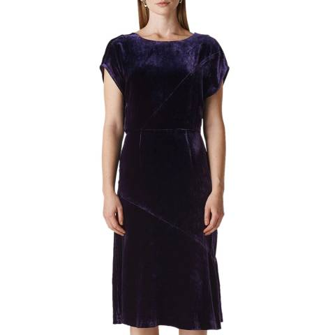 WHISTLES Purple Mina Silk Blend Dress