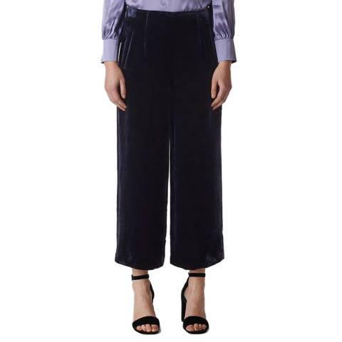 WHISTLES Purple Silk Blend Trousers
