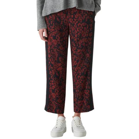 WHISTLES Red Jungle Print Trousers