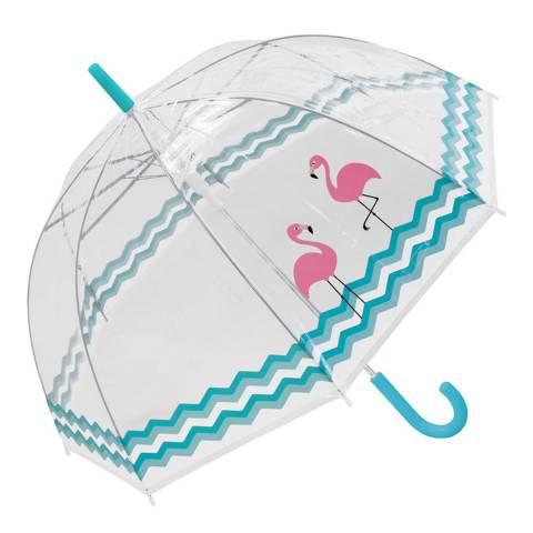 Susino Transparent / Blue / Pink Flamingo Birdcage Umbrella