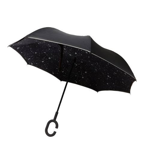 Le Monde du Parapluie Black Star Reversible Umbrella