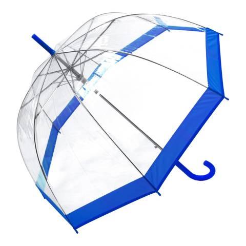 Susino Transparent / Blue Border Birdcage Umbrella