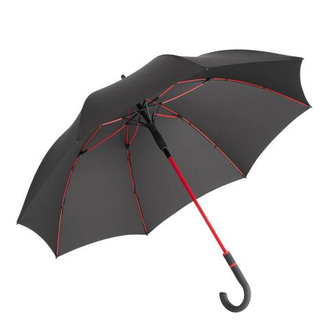 Fare Grey / Red Windproof Umbrella