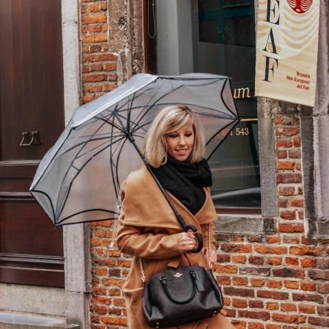 Le Monde du Parapluie Transparent / Black Border Umbrella
