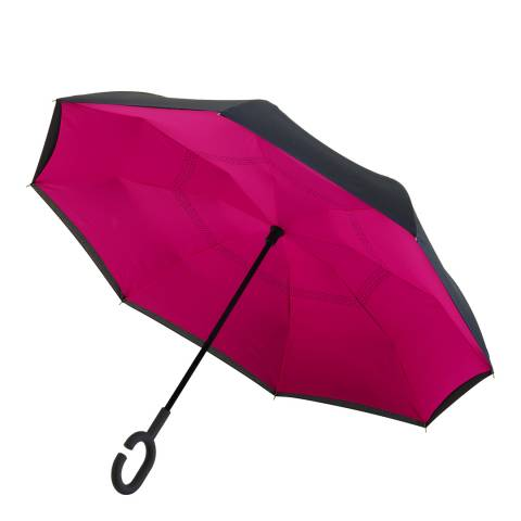 Impliva Black / Pink Reversible Umbrella